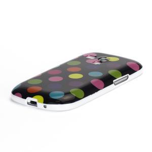 Gelové pouzdro PUNTÍK pro Samsung Galaxy S3 mini i8190- černobarevné - 4