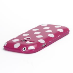 Gelové pouzdro PUNTÍK pro Samsung Galaxy S3 mini i8190- růžové - 4