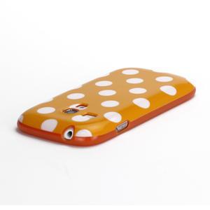 Gelové pouzdro PUNTÍK pro Samsung Galaxy S3 mini i8190- oranžové - 4