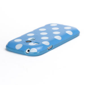 Gelové pouzdro PUNTÍK pro Samsung Galaxy S3 mini i8190- modré - 4