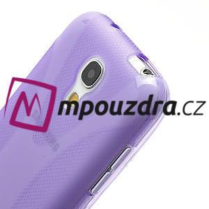 Gelové X pouzdro pro Samsung Galaxy S4 mini i9190- fialové - 4