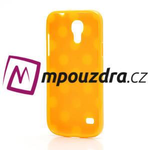 Gelový Puntík pro Samsung Galaxy S4 mini i9190- oranžové - 4