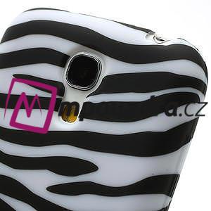 Gelové pouzdro pro Samsung Galaxy S4 mini i9190- bílá zebra - 4