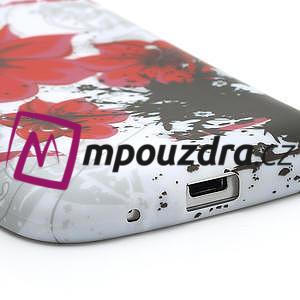Gelové pouzdro pro Samsung Galaxy S4 mini i9190- červený květ - 4