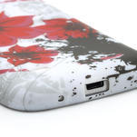 Gelové pouzdro pro Samsung Galaxy S4 mini i9190- červený květ - 4/5