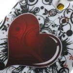 Gelové pouzdro pro Samsung Galaxy S4 mini i9190- srdce červené - 4/5