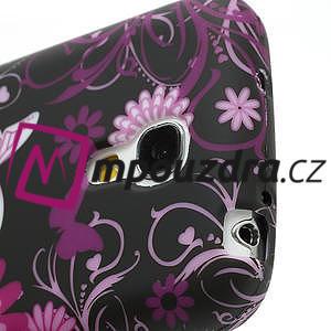 Gelové pouzdro pro Samsung Galaxy S4 mini i9190- květina-motýl - 4