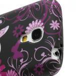 Gelové pouzdro pro Samsung Galaxy S4 mini i9190- květina-motýl - 4/5