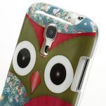 Gelové pouzdro na Samsung Galaxy S4 mini i9190- sova červená - 4/5
