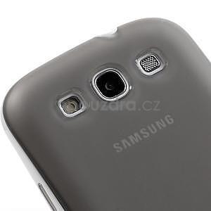 Gelové rámované pouzdro na Samsung Galaxy S3 i9300- šedé - 4