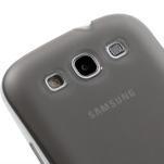 Gelové rámované pouzdro na Samsung Galaxy S3 i9300- šedé - 4/7