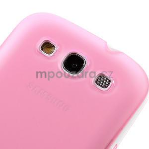 Gelové rámované pouzdro na Samsung Galaxy S3 i9300- růžové - 4