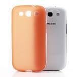 Gelové rámované pouzdro na Samsung Galaxy S3 i9300- oranžové - 4/7