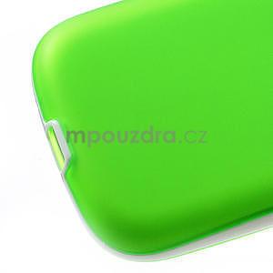 Gelové rámované pouzdro na Samsung Galaxy S3 i9300- zelené - 4