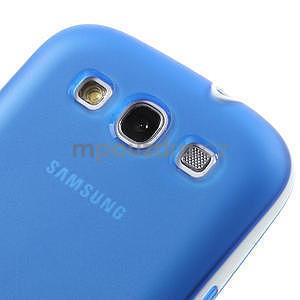 Gelové rámované pouzdro na Samsung Galaxy S3 i9300- modré - 4