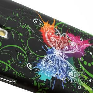 Gelové pouzdro pro Samsung Galaxy S4 i9500- barevný motýl - 4