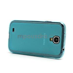 Gelové matné pouzdro na Samsung Galaxy S4 i9500- modré - 4