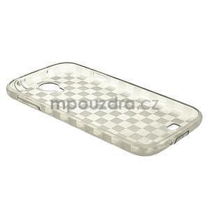 Gelové kosočvercové pouzdro na Samsung Galaxy S4 i9500- šedé - 4