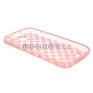 Gelpvé kosočvercové pouzdro na Samsung Galaxy S4 i9500- růžové - 4
