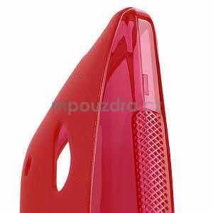 Gelové S-line pouzdro pro HTC one Mini M4- červené - 4