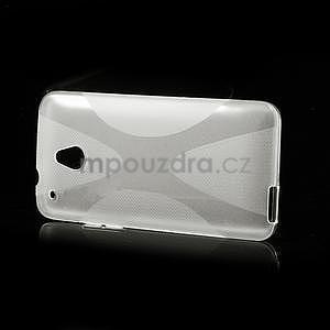 Gelové X-line pouzdro pro HTC one Mini M4- transparentní - 4