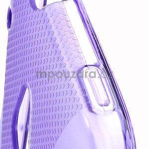 Gelové X-line pouzdro pro HTC one Mini M4- fialové - 4