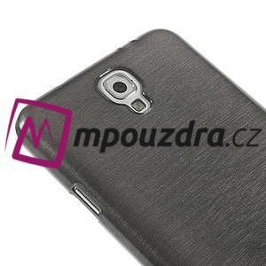 Gelové kartáčované pouzdro na Samsung Galaxy Note 3 Neo - černé - 4