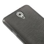 Gelové kartáčované pouzdro na Samsung Galaxy Note 3 Neo - černé - 4/5