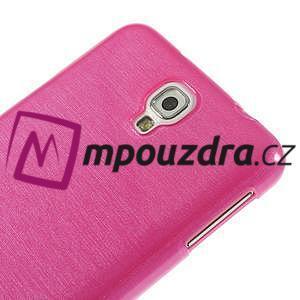Gelové kartáčované pouzdro na Samsung Galaxy Note 3 Neo - růžové - 4