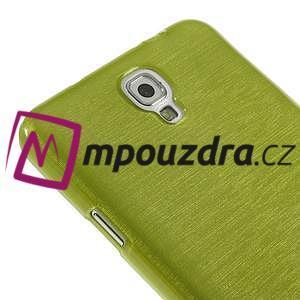 Gelové kartáčované pouzdro na Samsung Galaxy Note 3 Neo - zelené - 4
