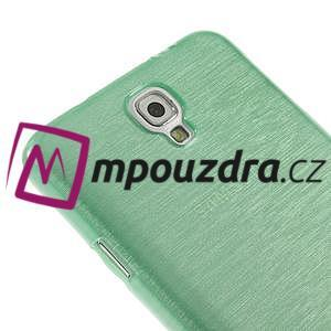 Gelové kartáčované pouzdro na Samsung Galaxy Note 3 Neo - cyan - 4
