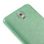 Gelové kartáčované pouzdro na Samsung Galaxy Note 3 Neo - cyan - 4/4