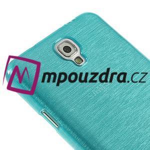 Gelové kartáčované pouzdro na Samsung Galaxy Note 3 Neo - modré - 4