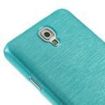 Gelové kartáčované pouzdro na Samsung Galaxy Note 3 Neo - modré - 4/5