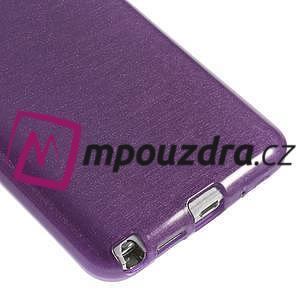 Gelové kartáčované pouzdro na Samsung Galaxy Note 3 Neo - fialové - 4