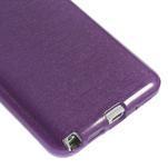 Gelové kartáčované pouzdro na Samsung Galaxy Note 3 Neo - fialové - 4/5