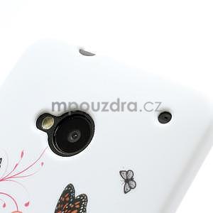 Gelové pouzdro pro HTC one M7- barevné motýli - 4