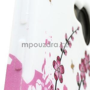 Gelové pouzdro pro HTC one M7- kvetoucí větev - 4