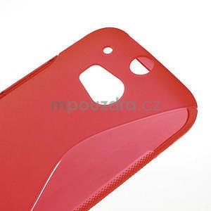 Gelové S-line pouzdro pro HTC one M8- červené - 4