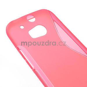 Gelové S-line pouzdro pro HTC one M8- růžové - 4