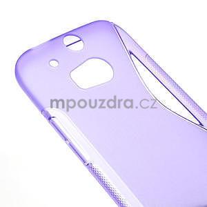 Gelové S-line pouzdro pro HTC one M8- fialové - 4