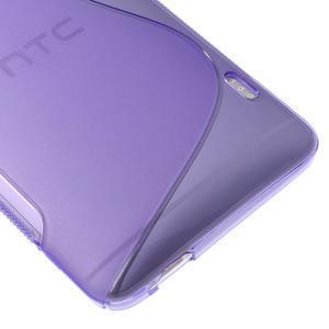Gelové S-line pouzdro na HTC One Max- fialové - 4