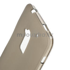 Gelové matné pouzdro pro HTC one Max- šedá - 4
