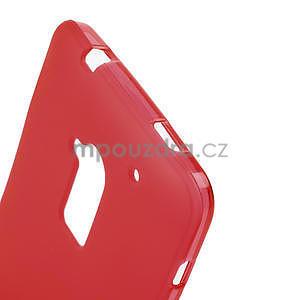 Gelové matné pouzdro pro HTC one Max- červená - 4
