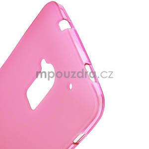 Gelové matné pouzdro pro HTC one Max- růžové - 4