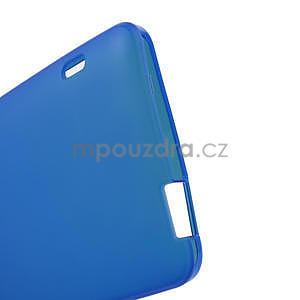 Gelové matné pouzdro pro HTC one Max- modré - 4