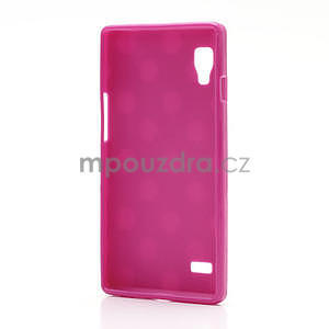 Gelové PUNTÍK pouzdro pro LG Optimus L9 P760- růžové - 4