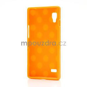 Gelové PUNTÍK pouzdro pro LG Optimus L9 P760- oranžové - 4