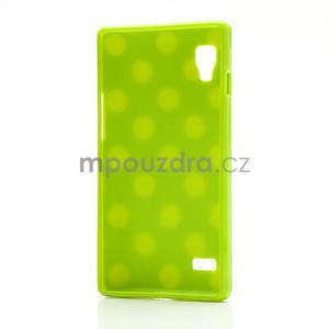 Gelové PUNTÍK pouzdro pro LG Optimus L9 P760- zelené - 4