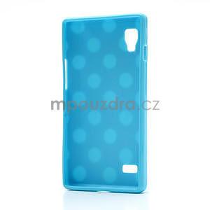 Gelové PUNTÍK pouzdro pro LG Optimus L9 P760- modré - 4